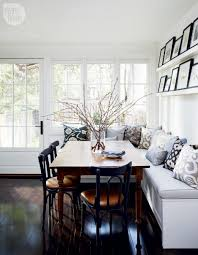 Cushion Flooring For Kitchen White Kitchen Banquette Blue Gray Pattern Cushions Square Dining