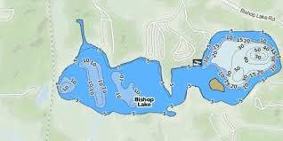 Bishop Lake Fishing Map Us_mi_47_68 Nautical Charts App