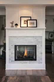 Marble subway tile white trim fireplace Interior Design styling by ...