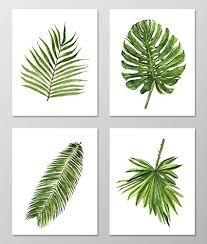 palm leaf wall art