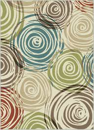 multi color area rugs best of ivory contemporary circles area rug modern geometric swirls multi