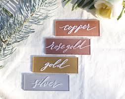 Lucite Color Chart Frameless Acrylic Hand Painted Sign Choose A Size Wedding