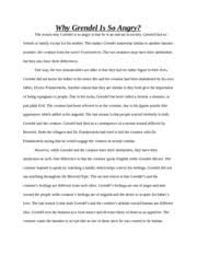 death penalty essay the death penalty the death penalty is a  2 pages grendel anger