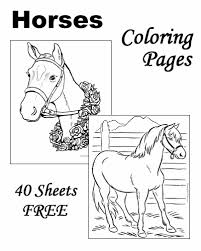 Horses coloring pages for kids. Horse Coloring Pages