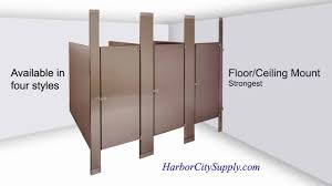 Toilet Partitions Styles  Materials YouTube - Bathroom toilet partitions