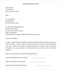 employment reference template free reference letter simple format samples personal
