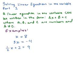 equatin solver math solving linear equations part 1 help in high school math algebra free math help s by equation solving mathematica