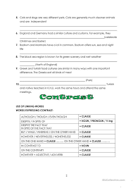 Compare And Contrast Essay Intro English Esl Worksheets