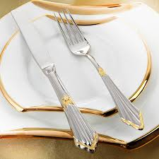 dining table cutlery. aliexpress.com : buy gold plated cutlery set 24pcs luxury dinner sets stainless steel knives forks royal dining table setting western dinnerware from