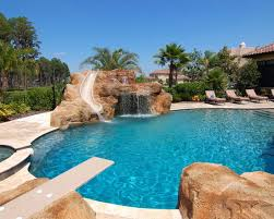 inground pools with diving board and slide. Amazing Mediterranean Pool With Diving Board Slide Waterfal And Jumping Rock Awesome Swimming Inground Pools O
