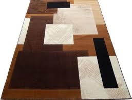 modern contemporary woven 8x11 area rug brown camel white actual size 7 7 x 10