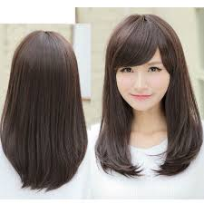 Korean Medium Hair Length Bangs Hairstyle Picture Magz