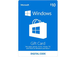 Microsoft Giftcard Microsoft Windows Store Gift Card 10 Email Delivery