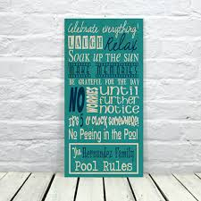 Swimming Pool Decor Signs Swimming Pool Sign Pool Decor Pool Sign Personalized Pool Sign 7