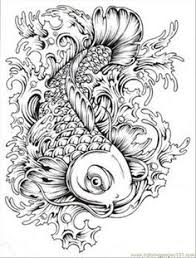 Small Picture Free Japanese Koi Fish Coloring Pages For Adult Printables