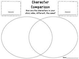 Venn Diagram Character Comparison Character Comparison By Katie Blair Young Teachers Pay Teachers
