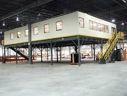 Warehouse mezzanine modular office Portafab Modular Modular Office On Mezzanine Unicarriers Forklift Dealer In Indianapolis Ft Wayne Indiana Modular Offices Industrial Truck Sales Service its
