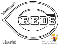 Cincinnati Reds Baseball Picture To Color In At Coloring Pages ...