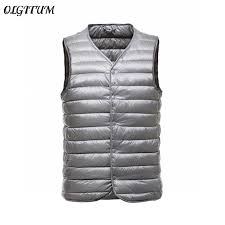 Portable Duck <b>Down Vest</b> For <b>Men</b> Casual 90% Ultra Light Duck ...