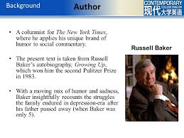 in my day russell baker ppt video online  10 background