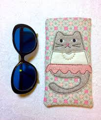 Machine Embroidery Patterns Interesting ITH Project Glasses Case Cell Phone Holder Tabbytha Machine