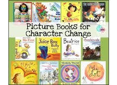 shared reading fiction story elements first grade 1st grade reading character change character traits picture books books for character change