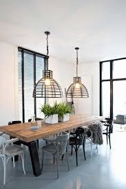 Tafellamp Industriele Woonkamer New Elegant Houten Tafel