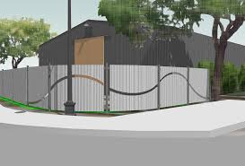 image of how to make corrugated steel fence ideas