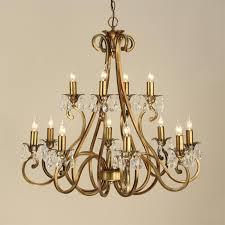 oksana 12 light chandelier antique brass crystal modern classic large chandelier ul1p12b