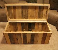 build your own wood furniture. Storage Chest Made From Shipping Pallets Diy Outdoor Bench Plans Build Your Own Wood Furniture