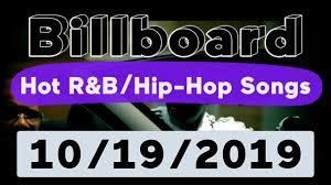 Billboard Top 50 Hot R B Hip Hop Rap Songs October 19 2019