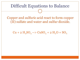 difficult equations to balance