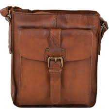 small vintage leather travel bag 7993 rust
