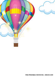 Hot air balloon template bing images altered boxes pinterest. Free Hot Air Balloon Baby Shower Invitation Templates Free Printable Birthday Invitation Templates Bagvania