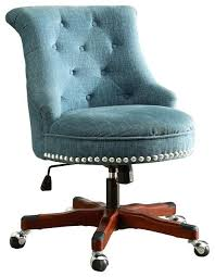 fabric desk chair no wheels office transitional chairs by pot