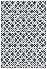 white geometric rug black and white geometric rug indoor outdoor m off white geometric rug
