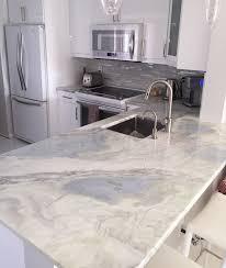 White Kitchen White Countertops Lumen Quartzite Countertops Kitchen In Hallandale Beach Kitchen