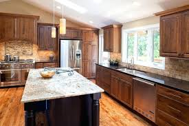 dark cabinets white countertops black and white kitchen grey