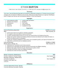 Marketing Resume Templates Math Homework Help Free Clairemont Digital Marketing Resume Tips 90