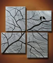 half off this week only multiple canvas painting of birds in trees 48 x 48 winter secrets