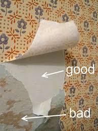 good vs bad examples of removing wallpaper
