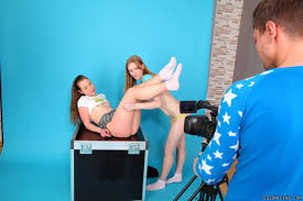 Jizz On Teens Lora And Jazzy Seduce Cameraman Two Young Cuties.