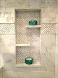 ceramic tile shower shelves shelf ideas installing corner