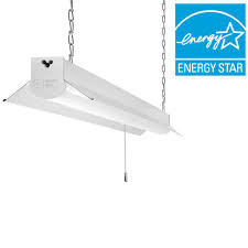 commercial electric 4 ft bright cool white integrated led linkable light fixture 54103161 the home depot
