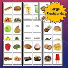 Food Flash Cards German Food Flashcards Activities And Games By World Language Cafe