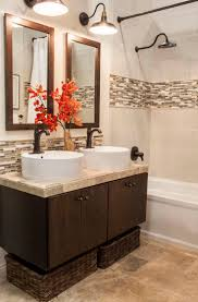 Best Bath Backsplash Ideas Images On Pinterest Bathroom
