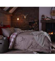 catherine lansfield stag bedding range natural