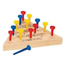 Old Fashioned Wooden Games Amazon Wooden Peg Game Toys Games 26