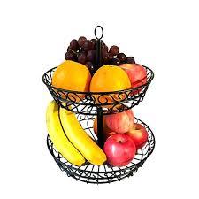 countertop fruit and vegetable storage 2 tier fruit vegetables snacks basket holder bowl stand home decor