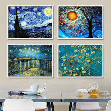 2019 5d diamond painting van gogh starry night over the rhone cross stitch full square diamond embroidery new year home decoration from luzhenbao525